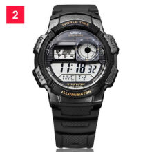 Casio AE-1000W-1A Sports double display waterproof electronic watch-Black