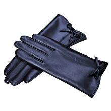 SiYing fashion leather gloves thick full touch screen ladies driving cycling gloves