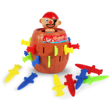 Anamode Stab Pop Up Sword Pirate Bucket Game Interactive Toys -Onesize - Multicolor
