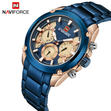 NAVIFORCE Fashion Sport Quartz Mens Watches Full Steel Waterproof Watch