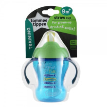 Tommee Tippee Training Straw Cup 9m+ - Green Swim Against the Tide