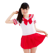 Anamode Women Erotic Costumes Japanese Student Cosplay Uniform Skirt Tops Sets -