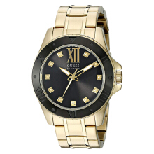Guess U0721G2 Black Dial Gold Stainless Steel Strap [U0721G2]