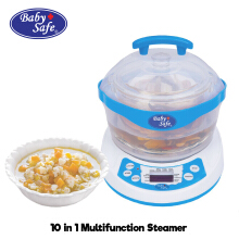 Baby Safe 10 in 1 Multi Function Steamer (LB005) / Alat Khusus Makanan Bayi