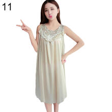 Farfi Women's Summer Fashion Sexy Sleeveless Loose Breathable Sleepwear Nightdress