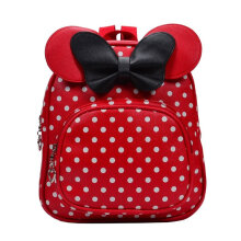 [COZIME] Lovely Cartoon Bowknot Children Backpacks Kindergarten School Bag PU Leather Others1