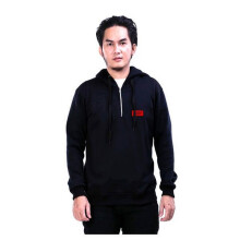 G-SHOP - MEN SWEATER JAKET HOODIES DISTRO PRIA - FHM 1465 - HITAM SIZE- M