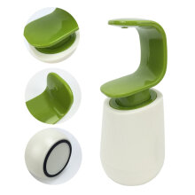 [OUTAD] C Shape Press Type One Hand Operate Bathroom Soap Shampoo Dispenser Bottle Green