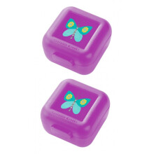 [free ongkir]Crocodile Creek Snack Keeper set of 2 - Purple Butterfly