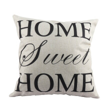 Jantens 45 * 45cm high quality simple home printing square decorative pillow cushion cover White