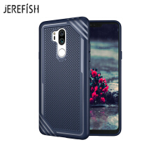 JEREFISH LG G7 Shockproof Phone Case Rugged Hybrid Hard PC Soft Silicone Full Body Protective Phone Cover