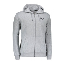 PUMA ESS FZ Hoody TR - Medium Gray Heather-Cat