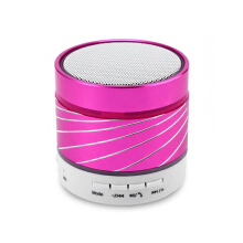Keymao Wireless Bluetooth Mini Speaker with Hands-free Call TF Card Pink