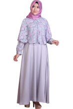 Rocella Dress Humaira Kombinasi Brukat - Grey (s-m)