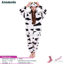 Anamode Flannel Cartoon Lingerie Animal Siamese Pajamas Couples Home Clothes -Cows -