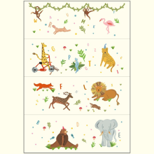 FOLDAWAY Design Mat 200 X 140 X 4 - Animal ABC