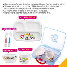 Puku P14405 Children Tableware Set / Set Alat makan anak / Gift set Multicolor