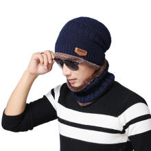 Farfi Warm Skiing Outdoor Sports Winter Knitting Wool Beanie Hat and Circle Scarf