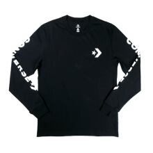 CONVERSE Star Chevron Wordmark Long Sleeve Tee - Black
