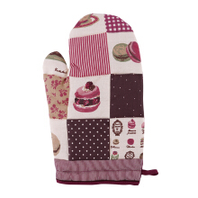 ARNOLD CARDEN Oven Mitts Macaroon Right Side - Maroon 19x32cm