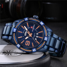 PEKY NAVIFORCE  Mens Watches Top Brand Luxury Military Army Business Steel Band Wrist