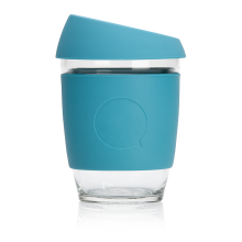 UCHII Portable Travel Glass Silicone Cup With Lid - Gelas Kopi Mobile Travel Dengan Tutup