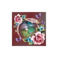 [COZIME] Flower Dolphin Pattern Diamond Cross Painting Stitch 5D Embroidery Picture multicolor