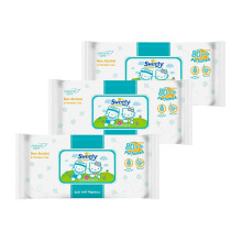 SWEETY Baby Wipes Non Perfumed 80+4s - Paket Isi 3