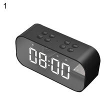 Farfi Bluetooth 5.0 Wireless Speaker Subwoofer Music Alarm Clock Laptop Phone Soundbox