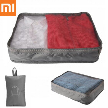 Xiaomi Portable Water Resistant Storage Bag with Visible Mesh Side for Holding Clothes Grey
