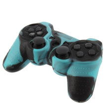 [OUTAD] Durable Silicone Skin Thumb Stick Protective Case Cover for PS2 Controller Black