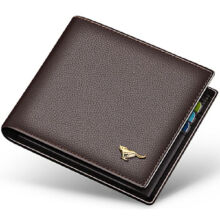SEPTWOLVES 3A1313233-02 Men's leather Cowhide two fold horizontal leather card holder wallet multi-function wallet-Coffee