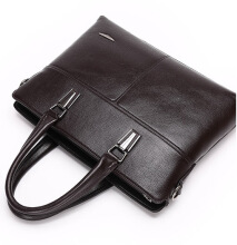 Wei's New Fashion Men Leather Computer Briefcase Shoulder Bag Messenger Business Bag  fdk8826