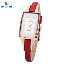 SKONE 9397 Women Quartz Watch Imported Movt Genuine Leather Band Wristwatch