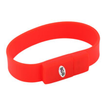 [kingstore] New Bracelet Wristband High Speed 4/8/16/32G USB Flash Drive Silicone Material Red