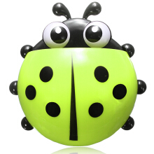 Cute Pocket Ladybug Wall Suction Cup Pocket Toothbrush Holder Bathroom Hanger Stuff Home Decoration Green