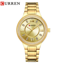 CURREN Women Watches Luxury Stainless Steel Fashion Dress Quartz watches Ladies Watch 9004