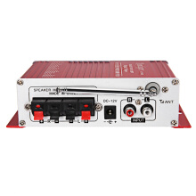 Kentiger HY - 602 HiFi Stereo Power Digital Audio Amplifier with IR Control FM MP3 USB Playback  Red