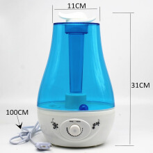 Jantens 3L Aroma Ultrasonic Humidifier Essent Oil Diffuse 25W 110-240V LED Light Humidifier Blue