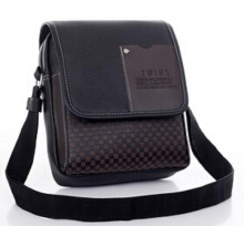 YOOHUI PU Leather Men Bag Fashion Men Messenger Bag small Business crossbody shoulder Bags Black