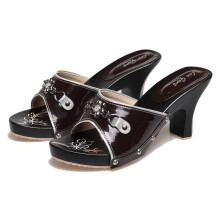 SANDAL HIGH HEELS / WEDGES KASUAL WANITA - BHE 170