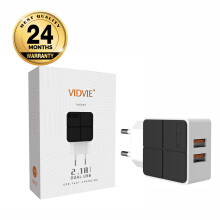 VIDVIE 2 USB Port Micro Charger PLE204 (USB Cable Included-Micro)