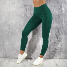 Women's Solid Workout Leggings Fitness Sports Gym Running Yoga Athletic Pants_L