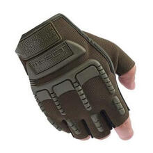 Farfi Men's Army Military Outdoor Tactical Combat Bicycle Airsoft Half Finger Gloves Green