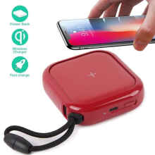 Redmango - MiPOW SPX01W Qi Certified Wireless Charger Powerbank 10000mAh - Putih