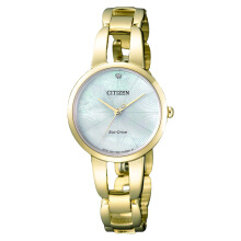Citizen EM0432-80Y Women Eco-Drive Sunray Mother of Pearl Dial Gold-tone Stainless Steel [EM0432-80Y]