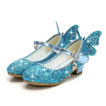 SiYing beautiful bow girl high heel princess shoes show girl crystal shoes