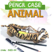 Om Botak - Tempat Pensil ANIMAL Binatang. PENCIL CASE Stationary Anak