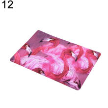 Farfi Water Absorbing Floor Bath Mat Flamingo Leaf Anti-slip Doormat