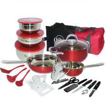 [Free Gift] OXONE 33 Pcs Travel Cookware OX-993